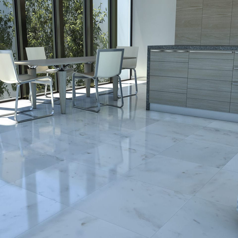 Indoor tile / floor / marble / high-gloss - BLANCO SAN MARINO ...