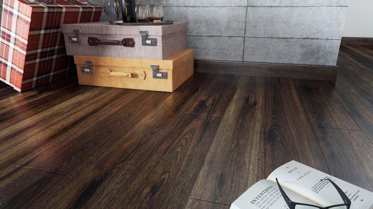 Elm Laminate Flooring Clip On Wood Look Residential