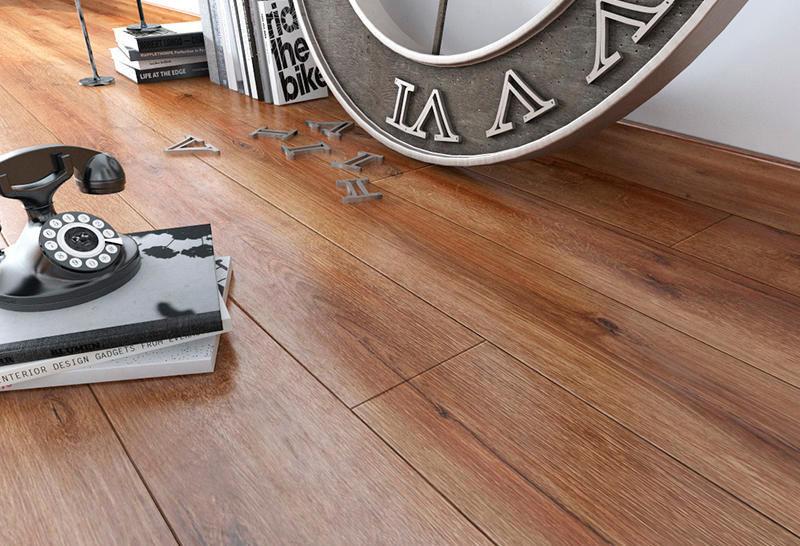 Oak Laminate Flooring Clip On Wood Look Home D 3787