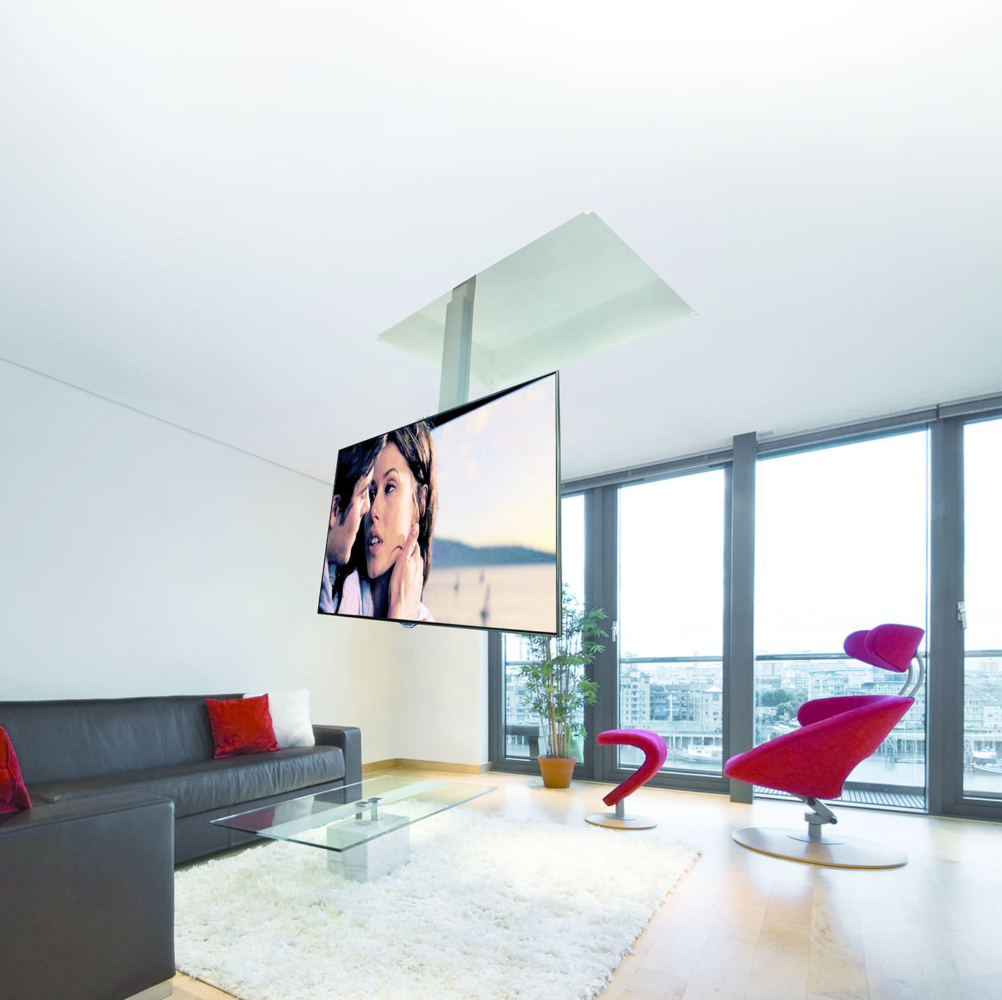 Contemporary TV ceiling mount / remote-controlled / motorized - FLIP 900