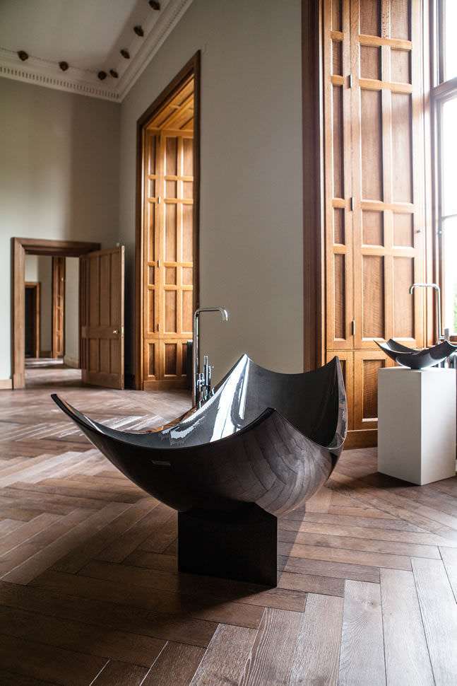 bathtub oval carbon fiber vessel splinter works