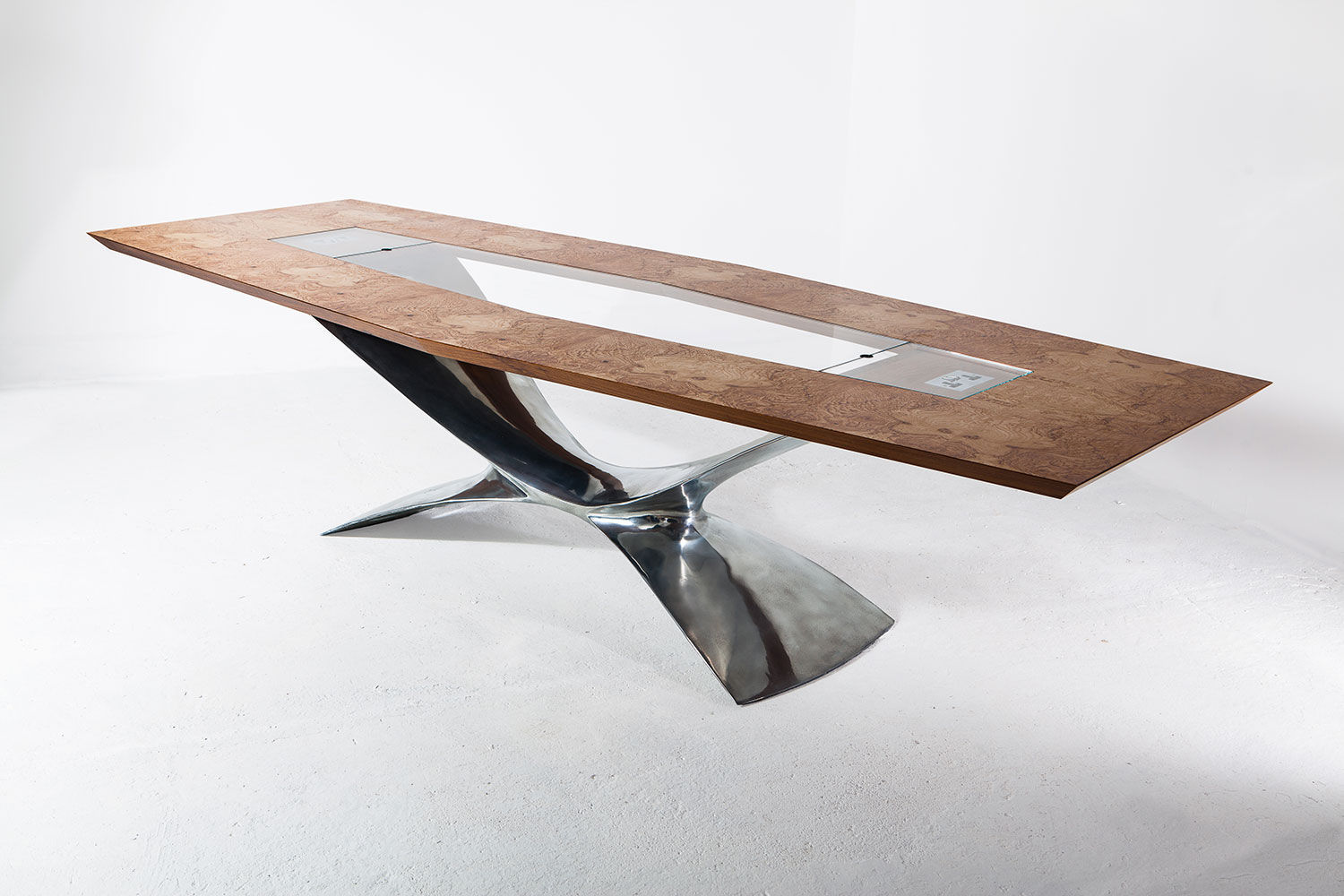 ... Contemporary Conference Table / Glass / Rectangular