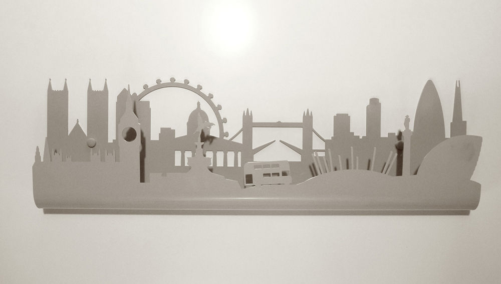 Wallmounted Coat Rack Contemporary Metal SKYLINE LONDON Utoopic Custom Wall Mounted Coat Rack