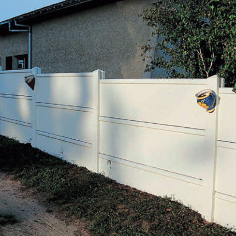 Garden Fence / With Panels / Concrete / Modular