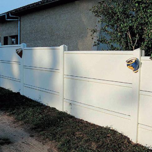 Garden Fence / With Panels / Concrete / Modular