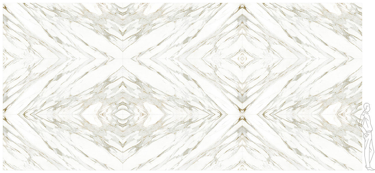 composite decorative panel wallmounted matte calacatta gold cg