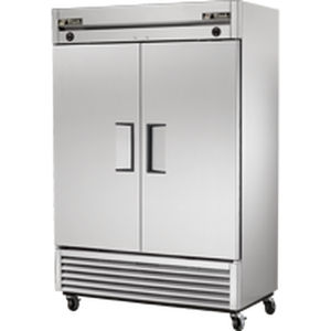 commercial refrigerator freezer upright stainless steel internal freezer compartment t 49dt - True Commercial Refrigerator