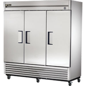 commercial refrigerator upright 3 door stainless steel t 72 - True Commercial Refrigerator