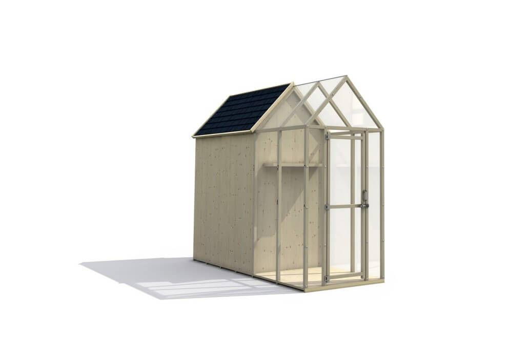 Wood frame greenhouse / polycarbonate - IL CEPPO