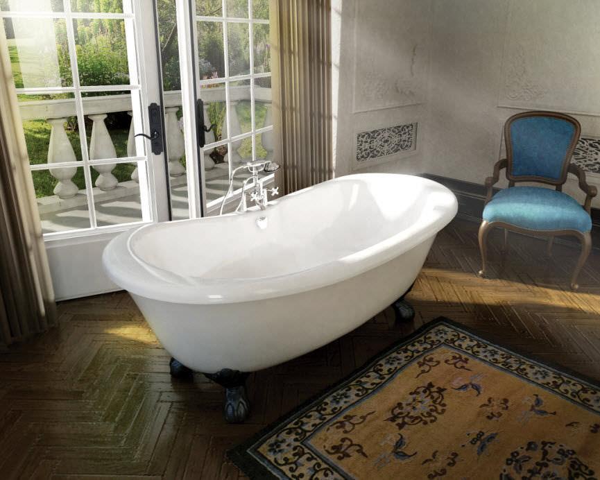 Bathtub with legs / oval / acrylic - VERSAILLES - MAAX bathroom