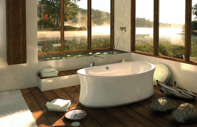 Free-standing bathtub / oval / acrylic - AMBROSIA F - MAAX bathroom