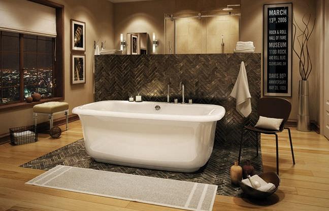 Freestanding bathtub / acrylic - MILES - MAAX bathroom - Videos