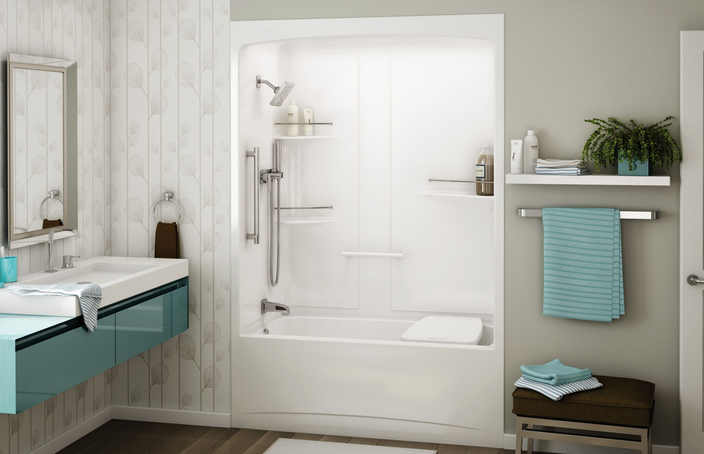 Built in bathtub shower combination   rectangular   acrylic ALLIA  TSR 6032 MAAX  Built in bathtub shower combination   rectangular   acrylic  . Maax Tub Shower Combo. Home Design Ideas