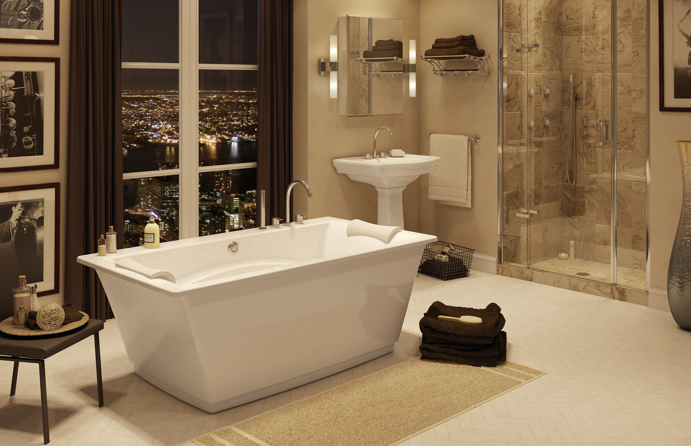 Freestanding bathtub - OPTIK 6636 F - MAAX bathroom