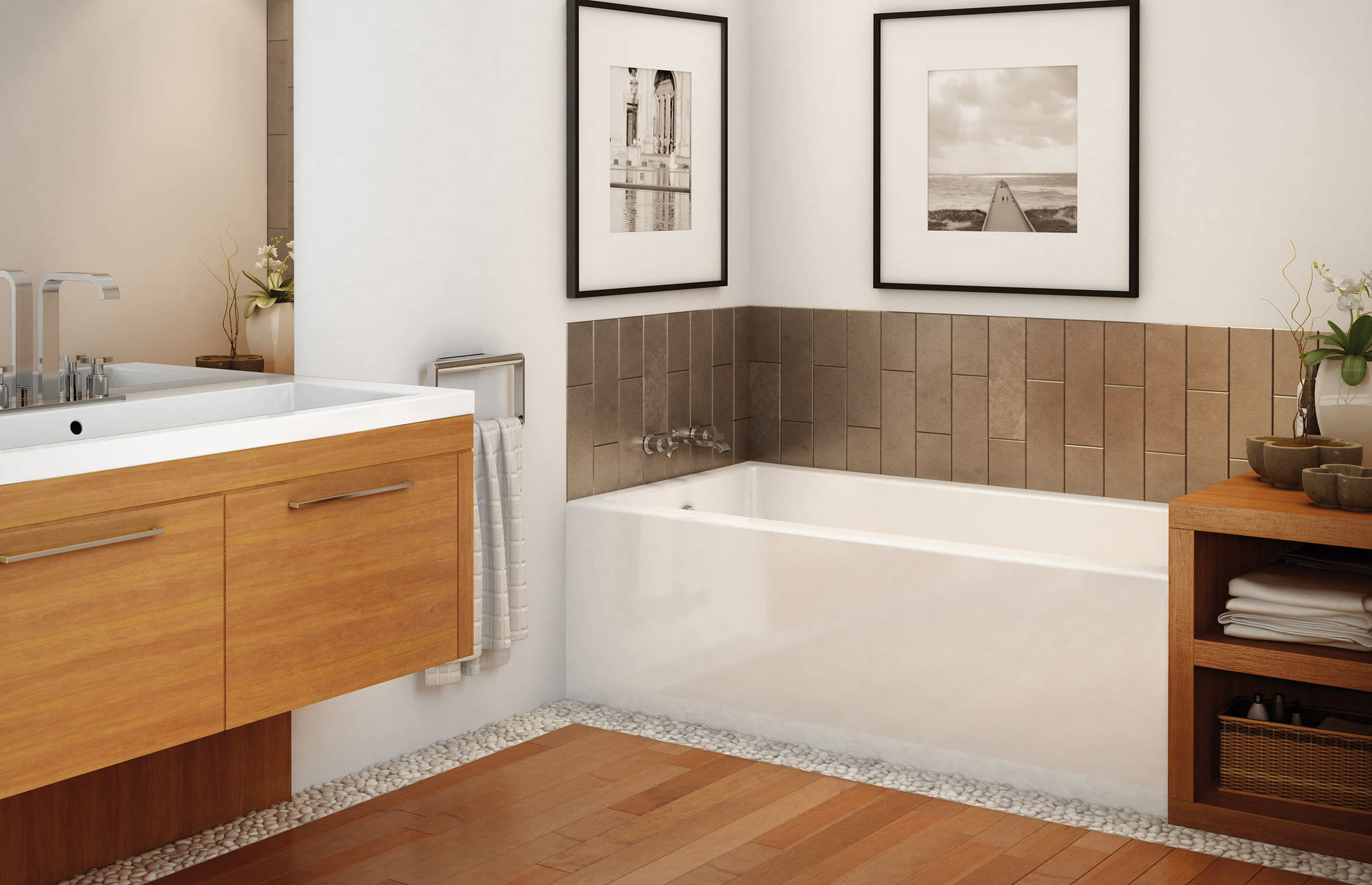 Free-standing bathtub - RUBIX 6030/6032 - MAAX bathroom