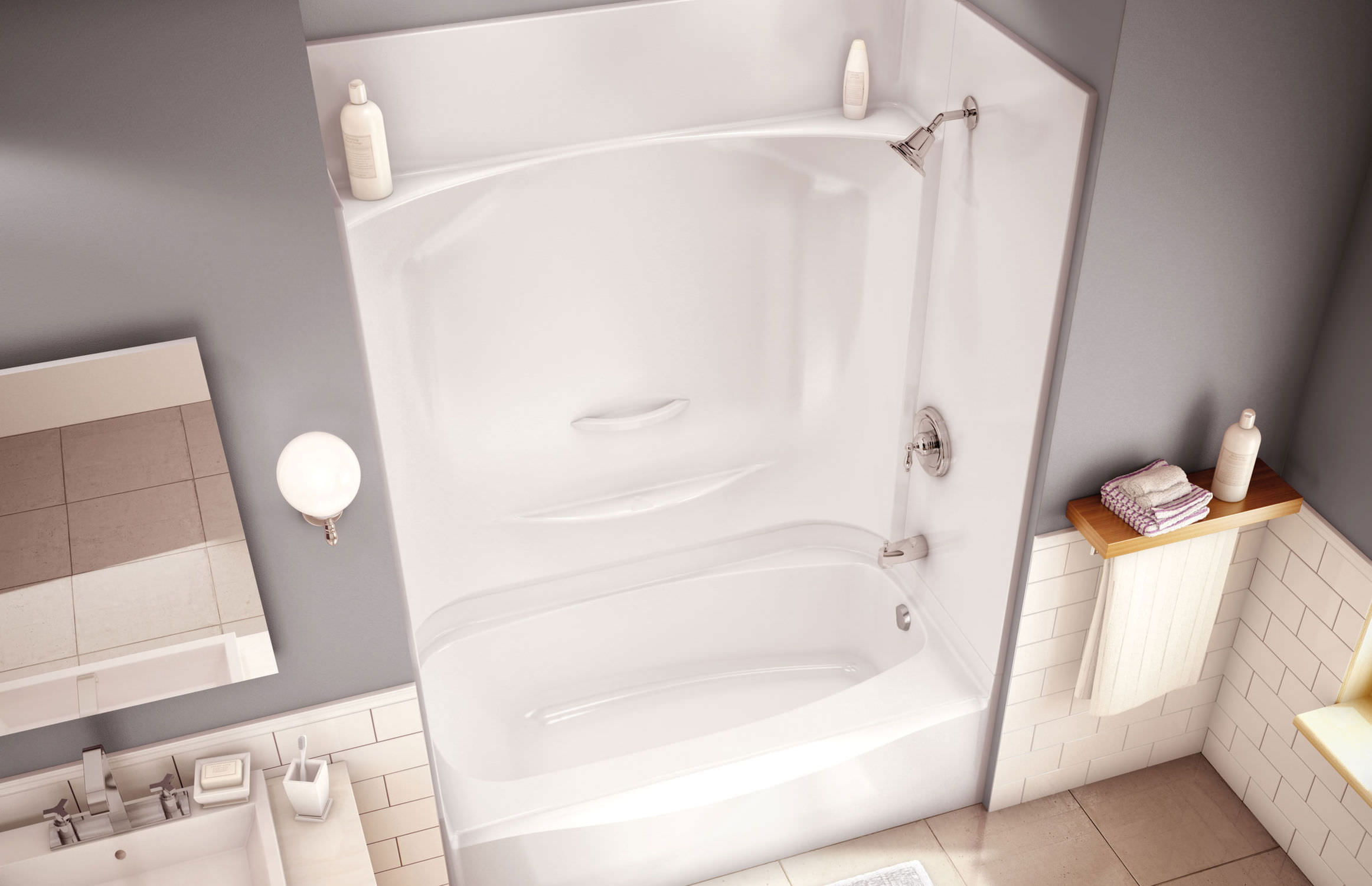 Built in bathtub shower combination   rectangular   acrylic ESSENCE  TS 6032 MAAXBuilt in bathtub shower combination   rectangular   acrylic  . Maax Tub Shower Combo. Home Design Ideas
