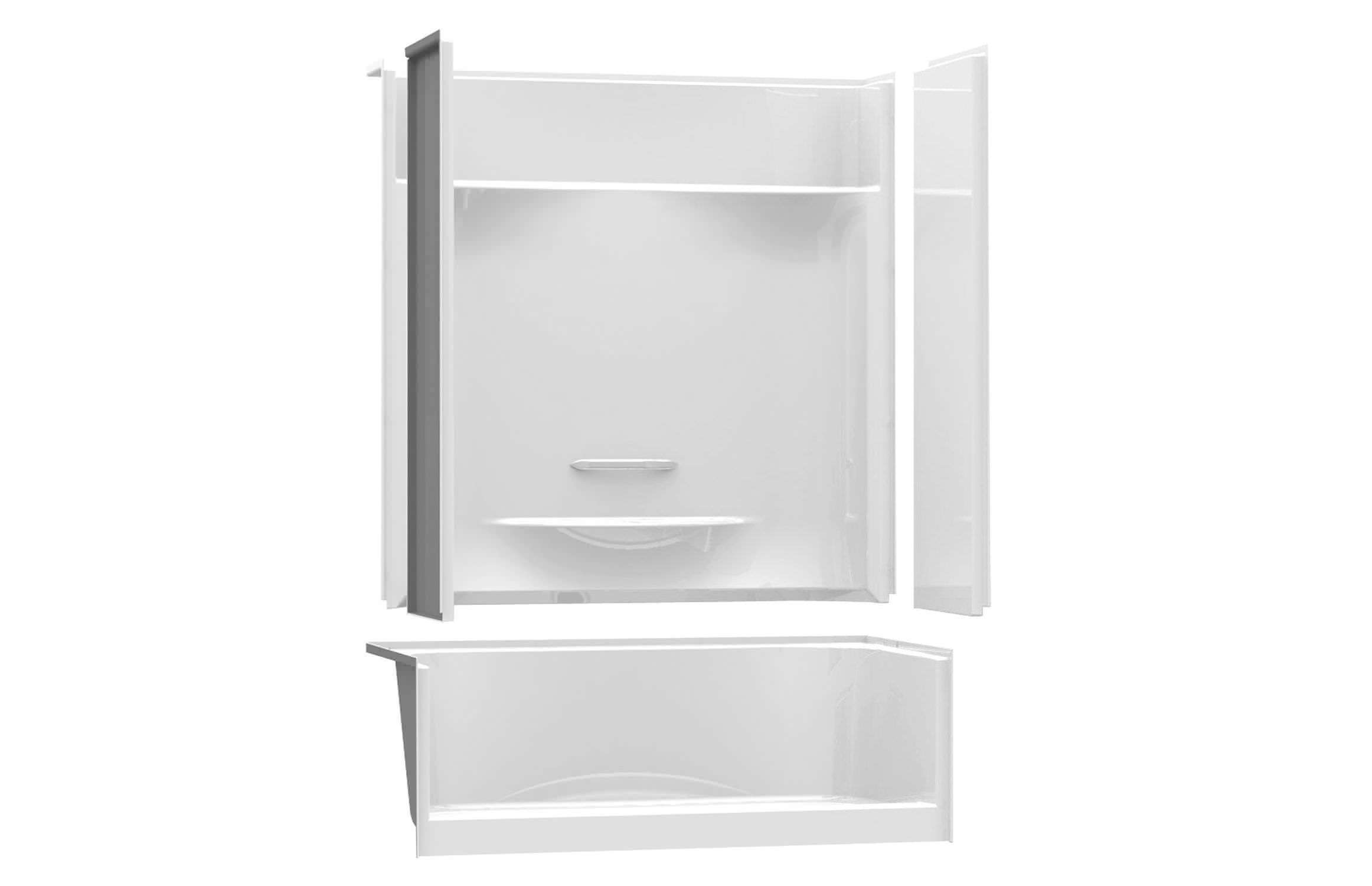 Rectangular shower base / acrylic - KDS 3060 - MAAX bathroom