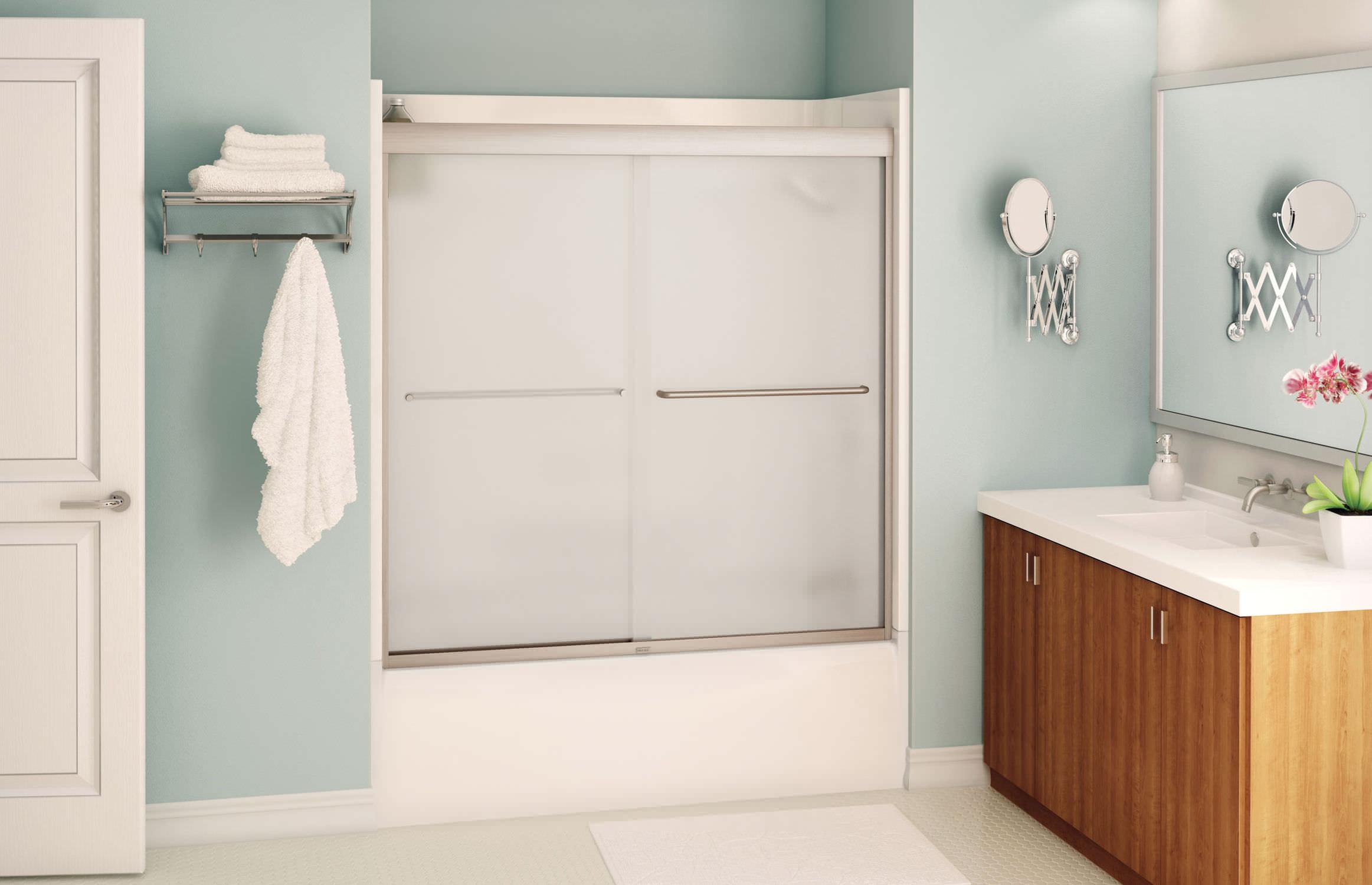 sliding bath screen aura maax bathroom videos sliding bath screen aura maax bathroom