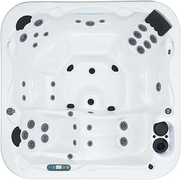 Built-in hot tub / square / 6-seater - CALIFORNIAN - DIMENSION ONE ...