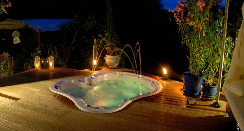 Built-in hot tub / oval / 8-seater - AMORE BAY - DIMENSION ONE ...
