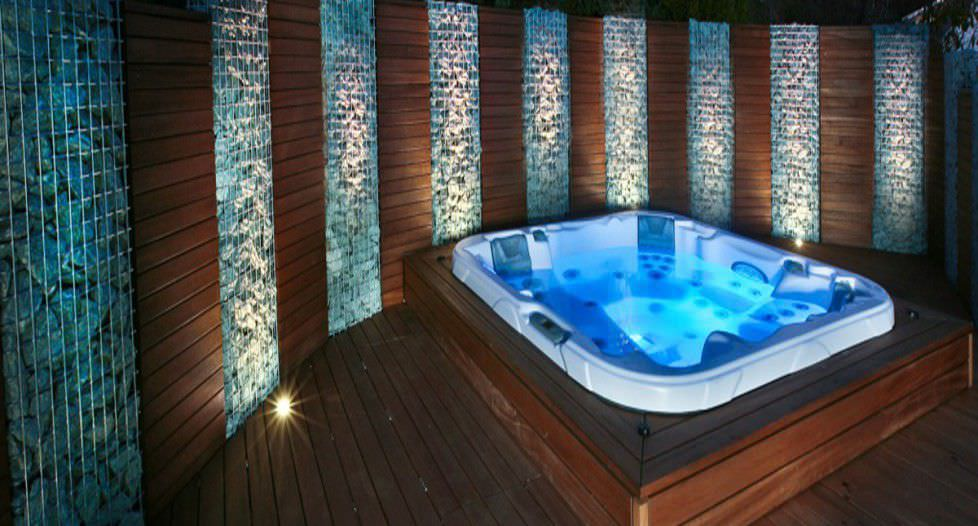 Built-in hot tub / square / 6-seater - CHAIRMAN - DIMENSION ONE ...