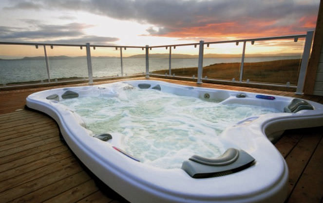 Built-in hot tub / rectangular / 7-seater - SARENA BAY - DIMENSION ...