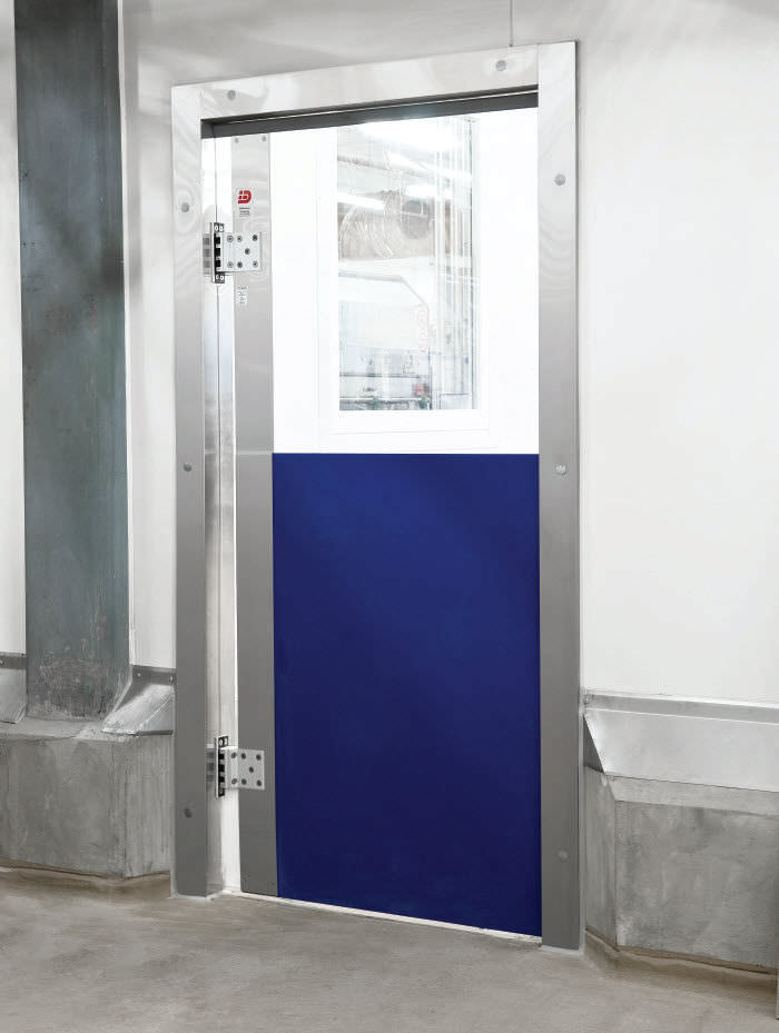 Swing industrial door / polycarbonate / automatic / for the food industry - ML0051B & Swing industrial door / polycarbonate / automatic / for the food ... Pezcame.Com