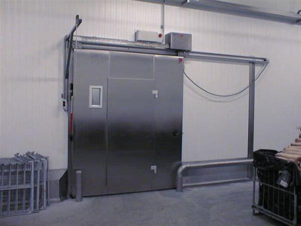 Genial Sliding Industrial Door / Metal / Automatic / Glazed   AS1001K