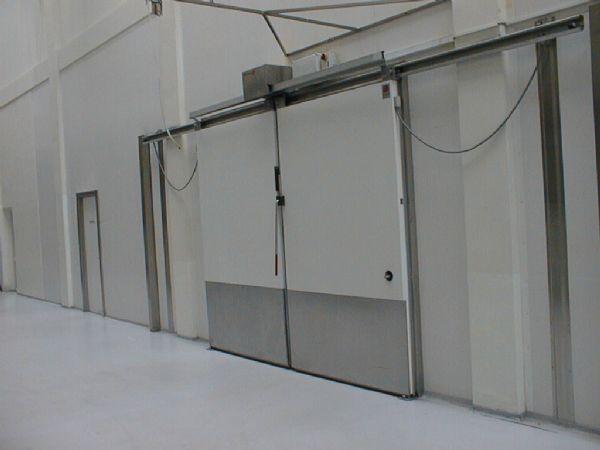 Sliding Industrial Door / Metal / Automatic / Glazed   AS1502F