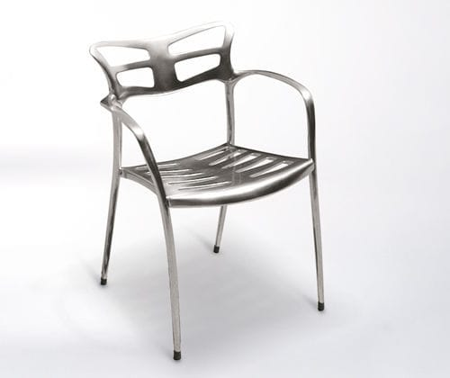 Merveilleux Contemporary Restaurant Chair / Stackable / Cast Aluminum / Outdoor   LICEO