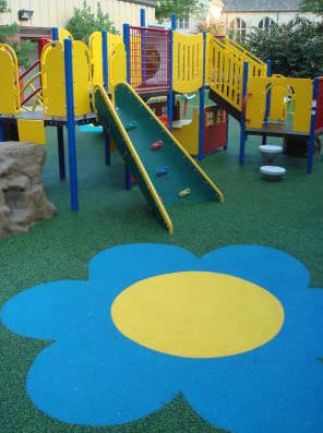 Rubber Flooring For Playgrounds Textured Concrete Look - Soft flooring for children's play area