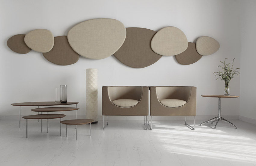 ... Wall-mounted acoustic panel / fabric / decorative / commercial  SATELLITE by Jon Gasca STUA ...