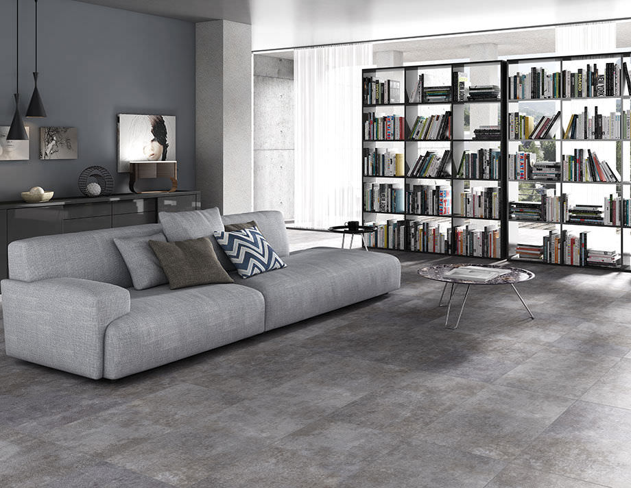 Indoor Tile Living Room Floor Porcelain Stoneware Concrete