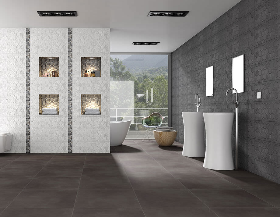Indoor Tile Bathroom Floor Porcelain Stoneware Trend Tau
