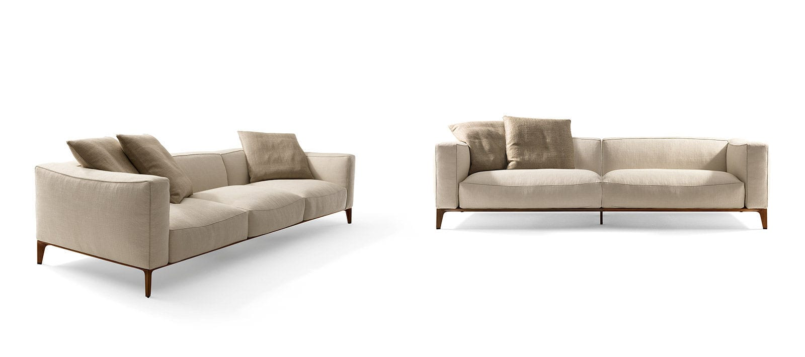 Modular Sofa Contemporary Fabric Leather