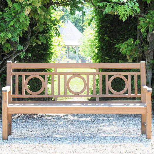 Garden bench traditional teak commercial LONDON TECK Tectona