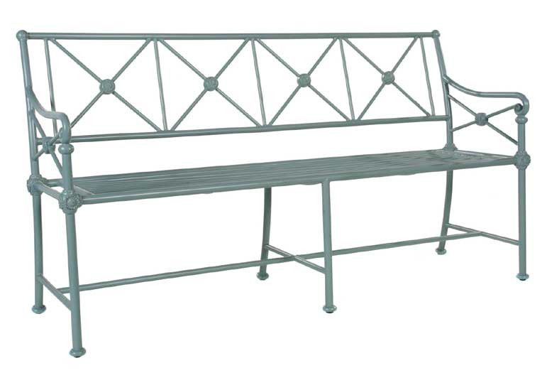 Garden bench traditional aluminum commercial MADELEINE