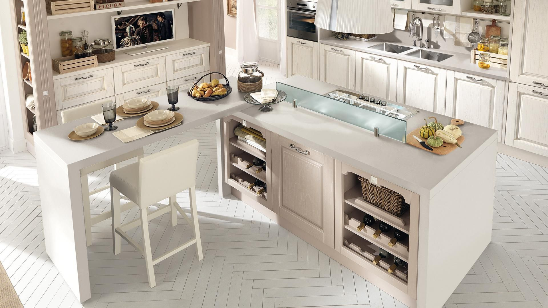 Traditional kitchen / wooden / island - LAURA - CUCINE LUBE - Videos
