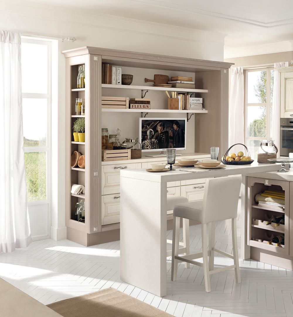 Traditional kitchen / wooden / island / with handles - LAURA ...