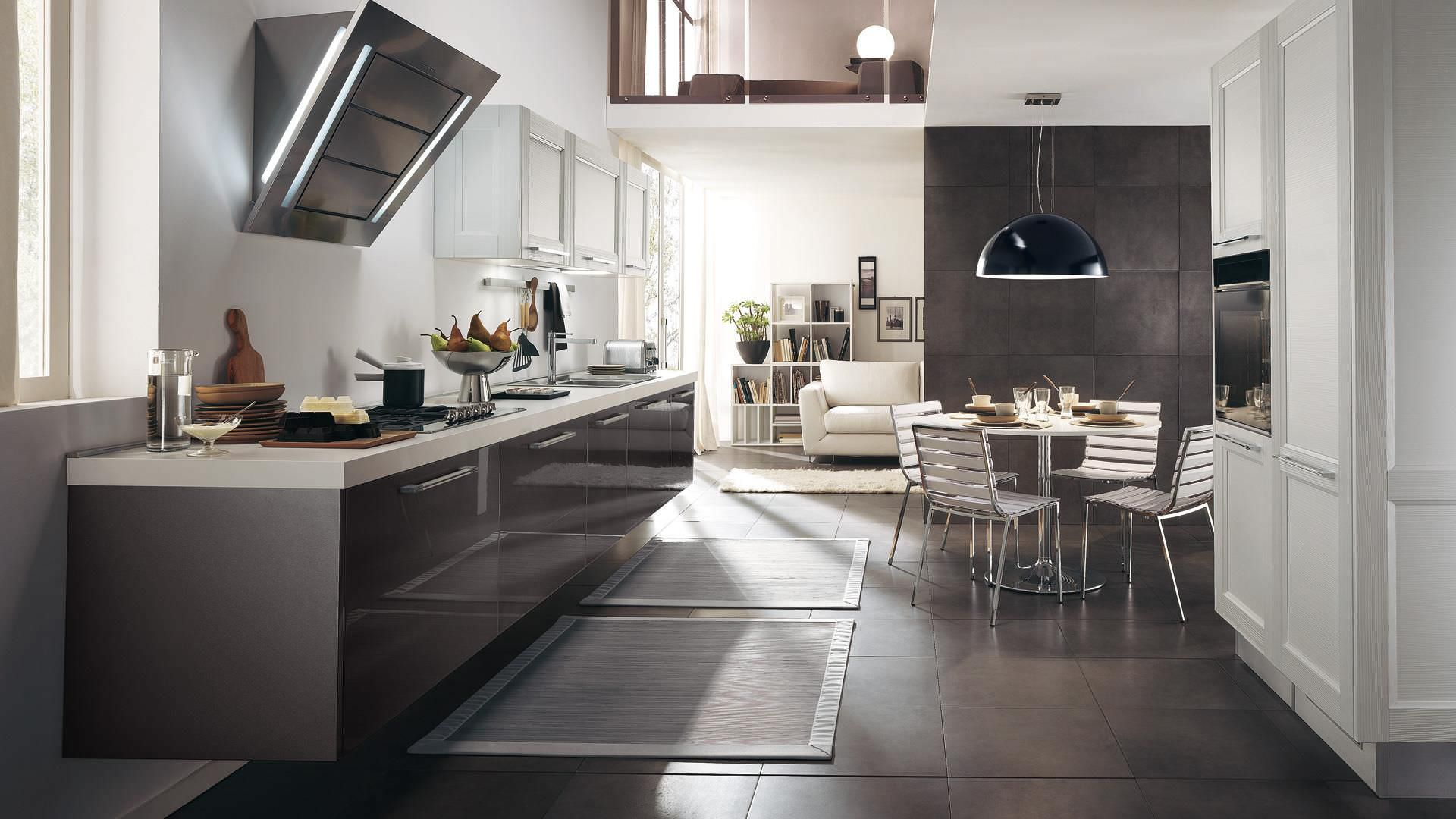 Contemporary kitchen / wooden / lacquered / high-gloss - GEORGIA ...