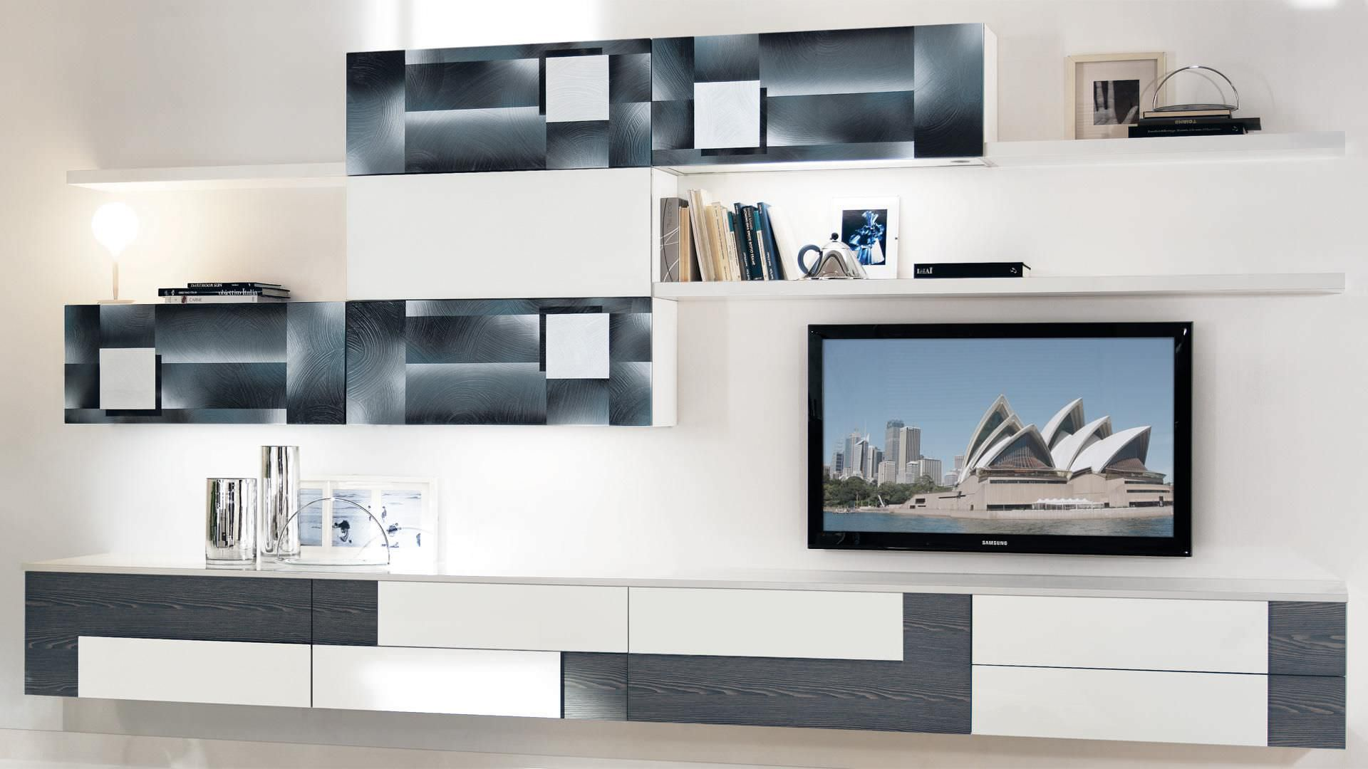 Contemporary TV wall unit / wooden - CREATIVA - CUCINE LUBE - Videos