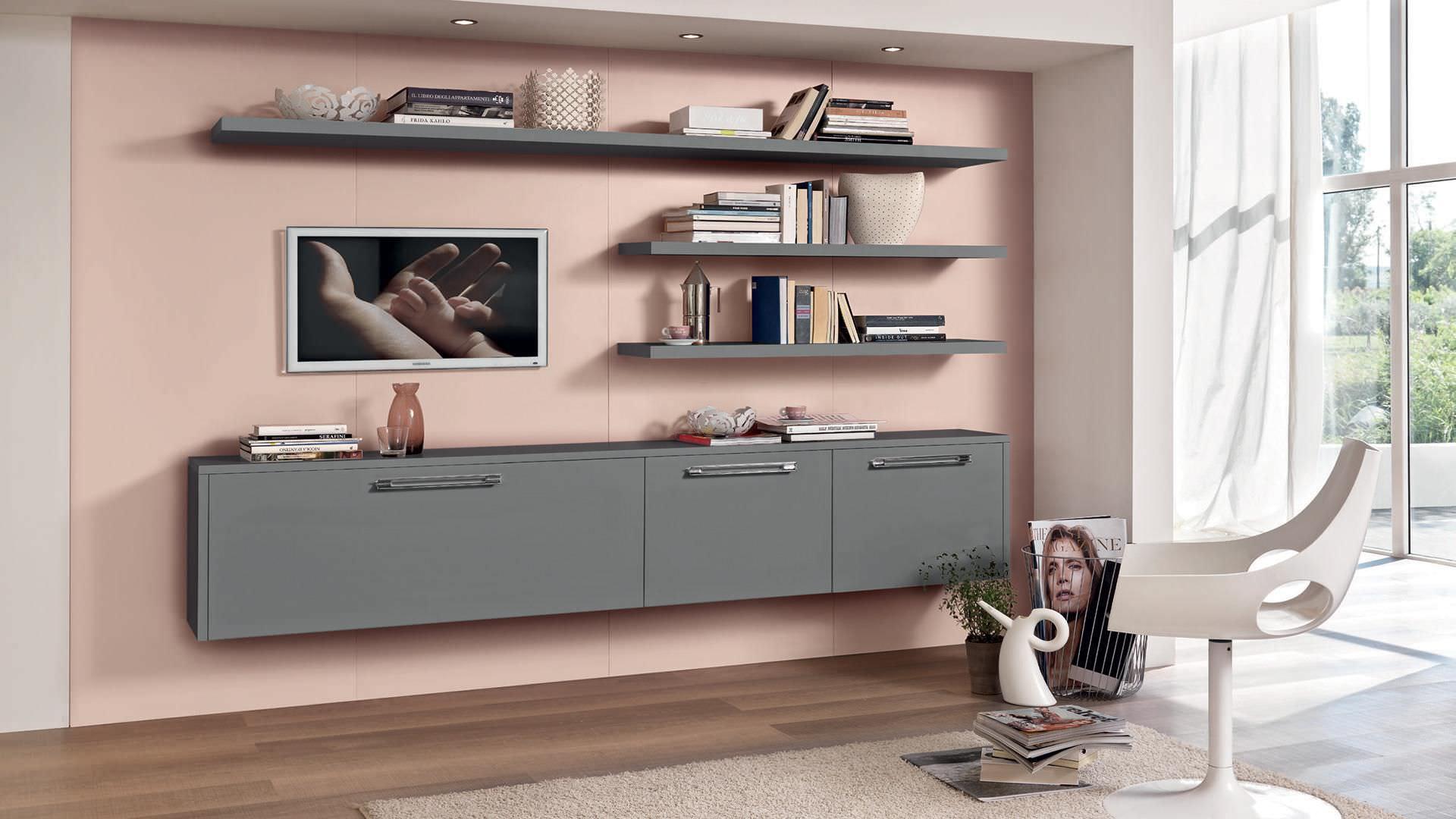 Contemporary TV wall unit / wooden - GALLERY - CUCINE LUBE - Videos