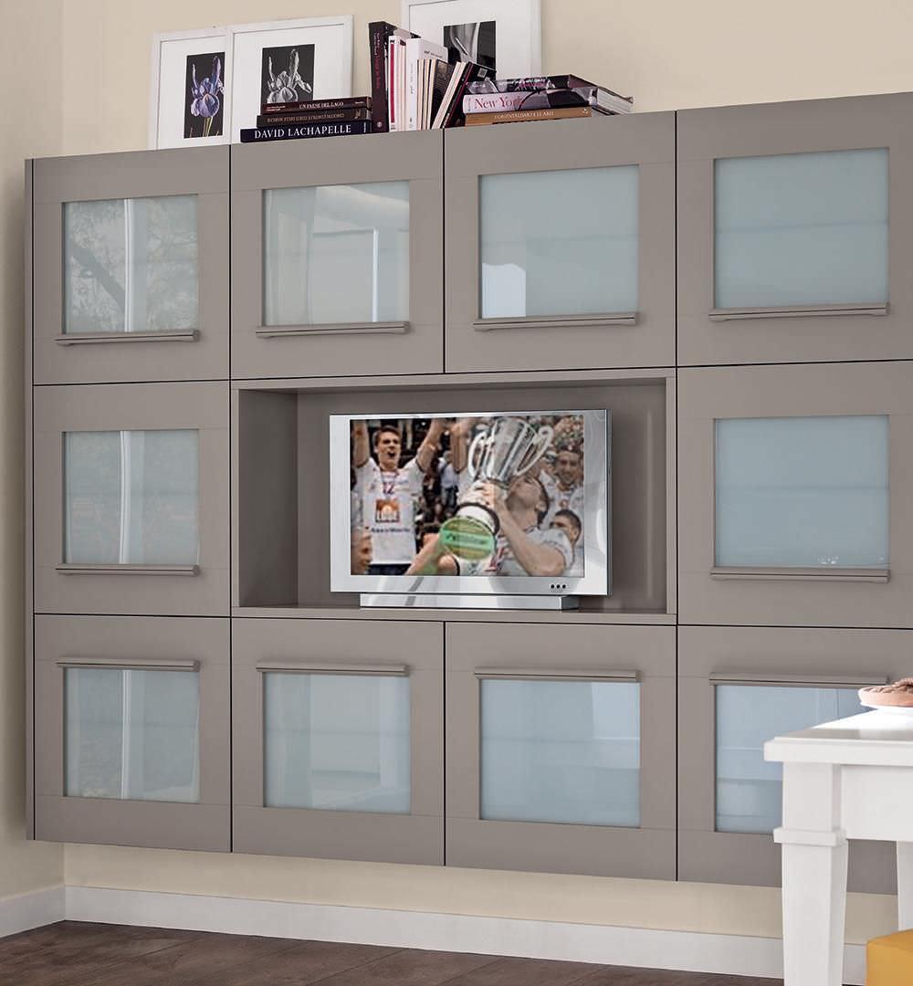 Contemporary TV cabinet / wooden - GALLERY - CUCINE LUBE - Videos