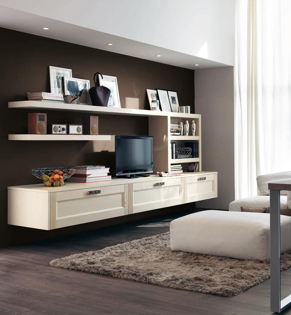 Contemporary TV wall unit / wooden - GEORGIA - CUCINE LUBE - Videos
