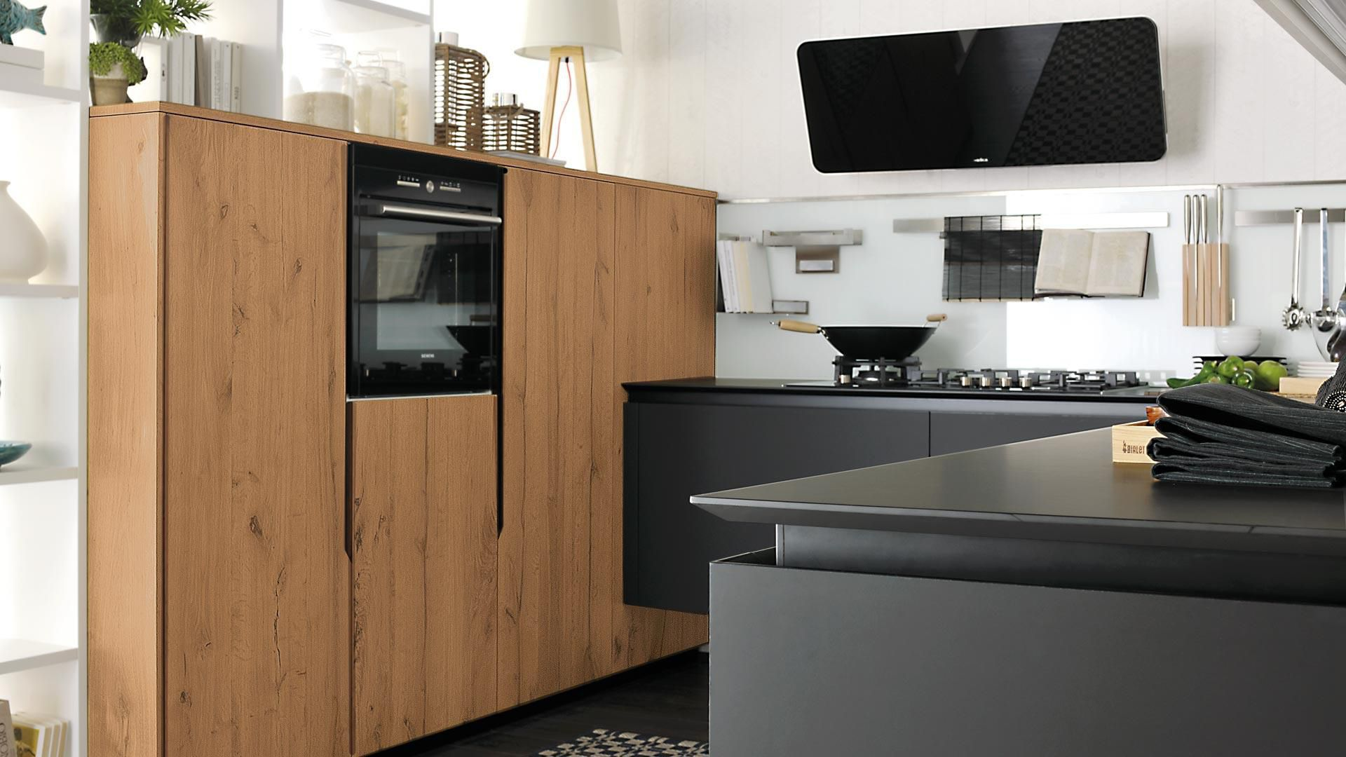 Contemporary kitchen / wooden / matte / lacquered - OLTRE - CUCINE LUBE