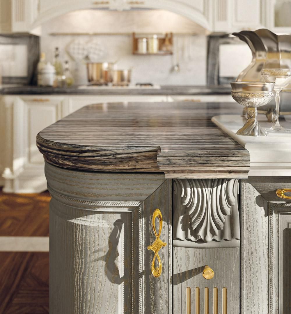 Traditional kitchen / wooden / island - PANTHEON - CUCINE LUBE