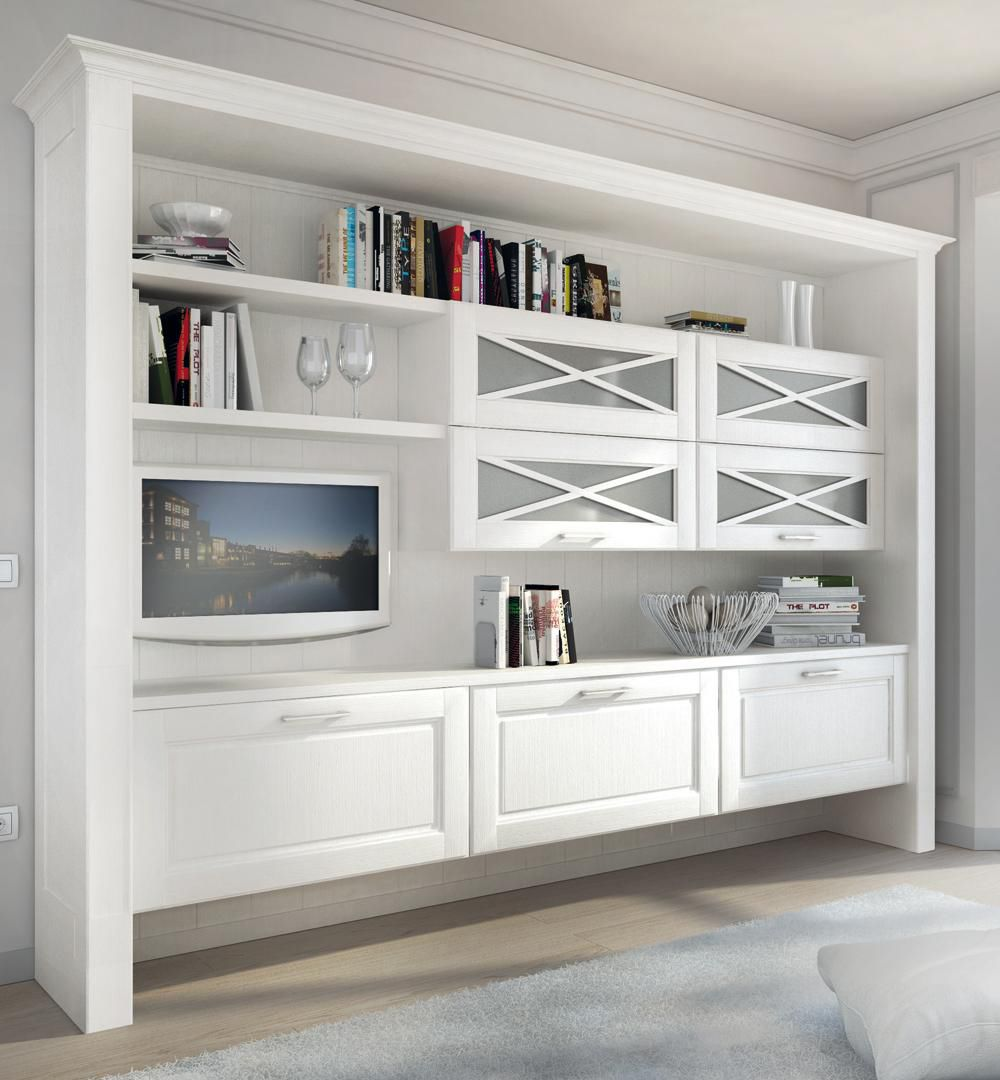 wall-mounted bookcase / traditional / wooden - agnese - cucine lube - Soggiorno Lube Agnese