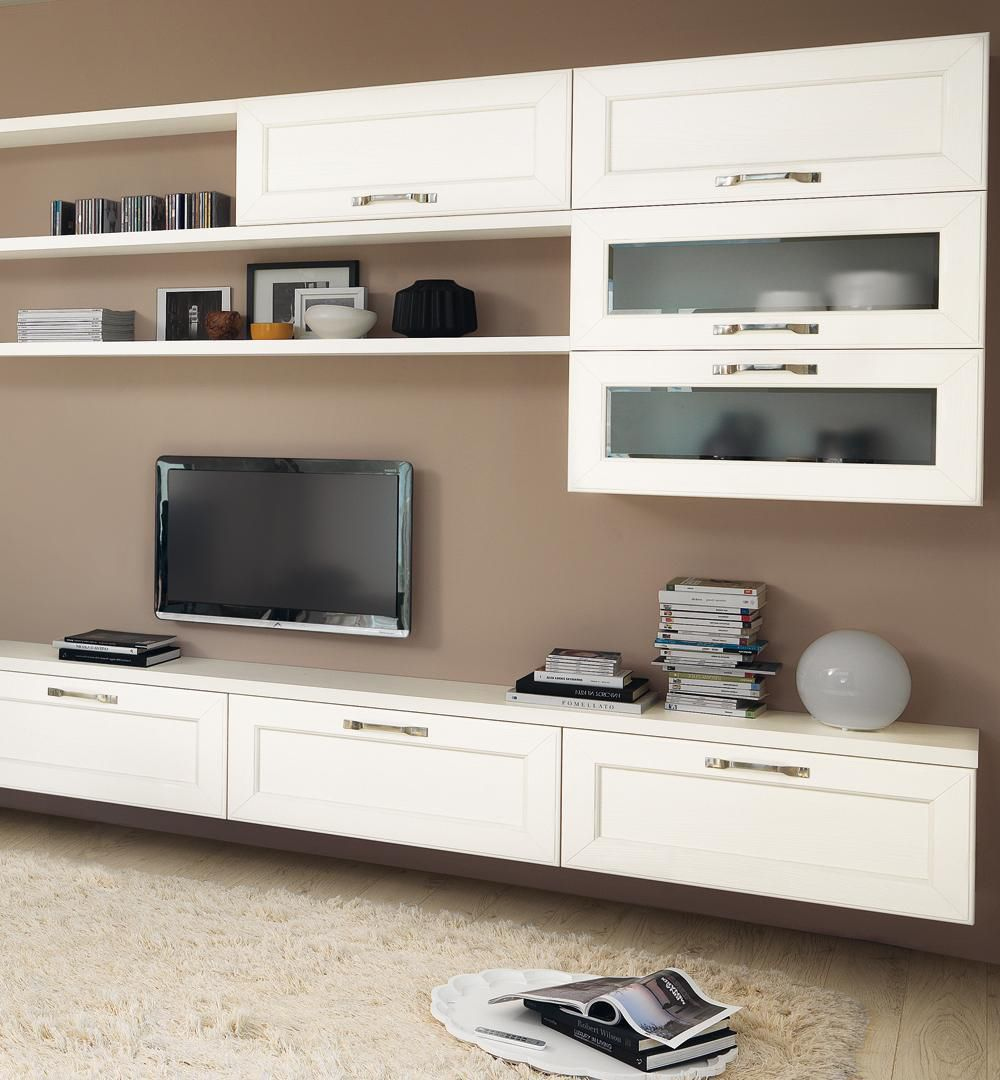 Traditional TV wall unit / wooden - CLAUDIA - CUCINE LUBE