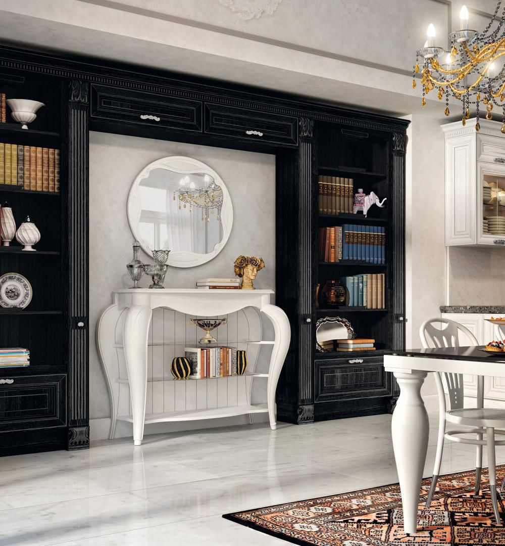 Traditional bookcase / lacquered wood - PANTHEON - CUCINE LUBE