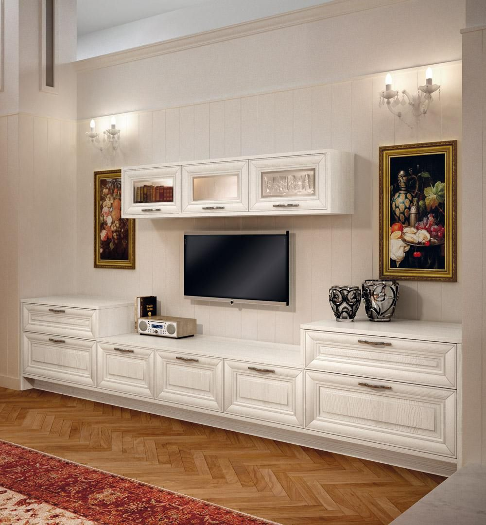 Traditional TV wall unit / wooden - PANTHEON - CUCINE LUBE